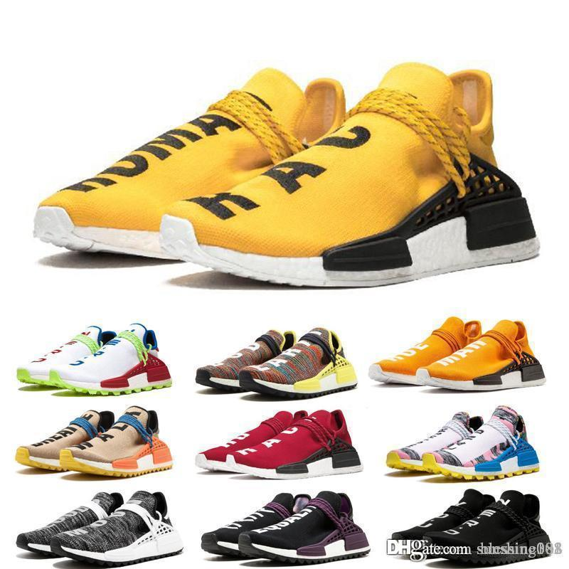 "free shipping 2018 Cheap Wholesale ""HUMAN RACE"" Pharrell Williams x 2016 Men's & Women's Discount Cheap Fashion Sport Shoes size 3"