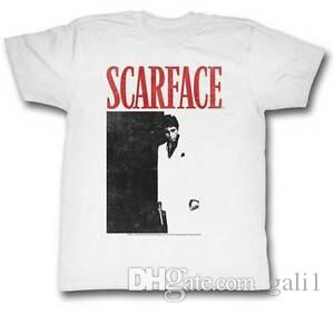 Scarface BlaFunny Red DVD Cover Lizenziertes Adult T Shirt Classic Movie