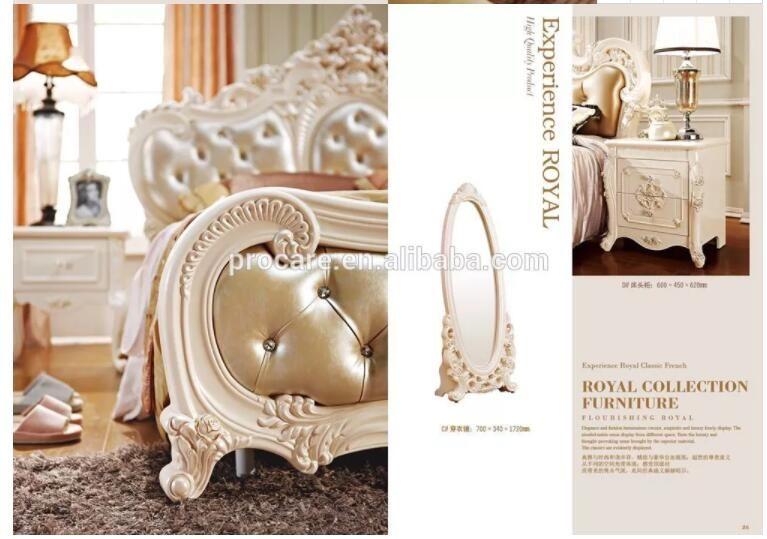 Ensembles royaux de meubles de chambre à coucher de conception moderne de  style européen