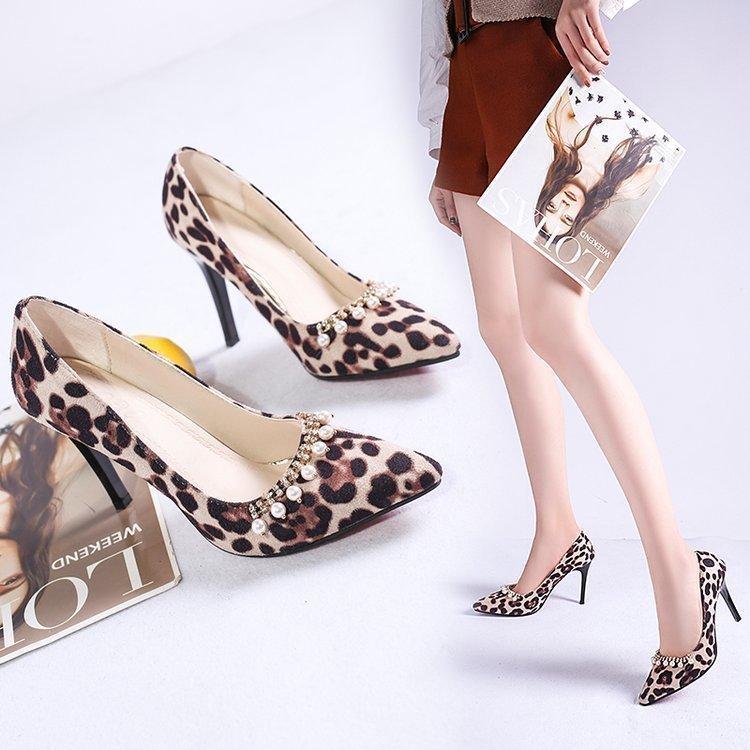 6b3596b3e Dress Ladies Shoes With Heels Summer High Heel Women Pumps Shoes Animal  Print Heels Leopard Print Wedding Shoes Comfort Women Pumps Mens Slippers  Footwear ...