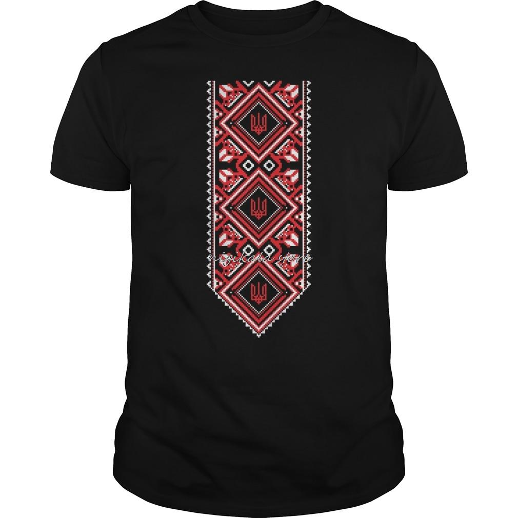 t shirt nigikala men t-shirt bioshick Ukrainian Embroidered Print Vyshyvanka T-Shirt of