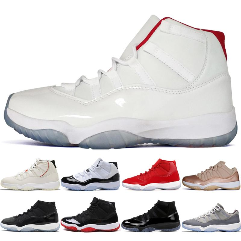 20d8d3151e73ed New 11 11s Platinum Tint Concord 45 Cap And Gown Prom Night Bred BARONS  Space Jams Basketball Shoes Men Women Win Like 82 96 Sports Sneakers Shoes  Men ...
