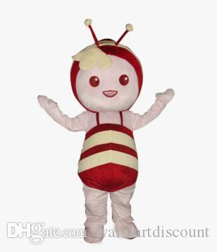 2019 High quality Professional Lovely Haney Bee Character Mascot Costumes Plush Adult Size Costume.