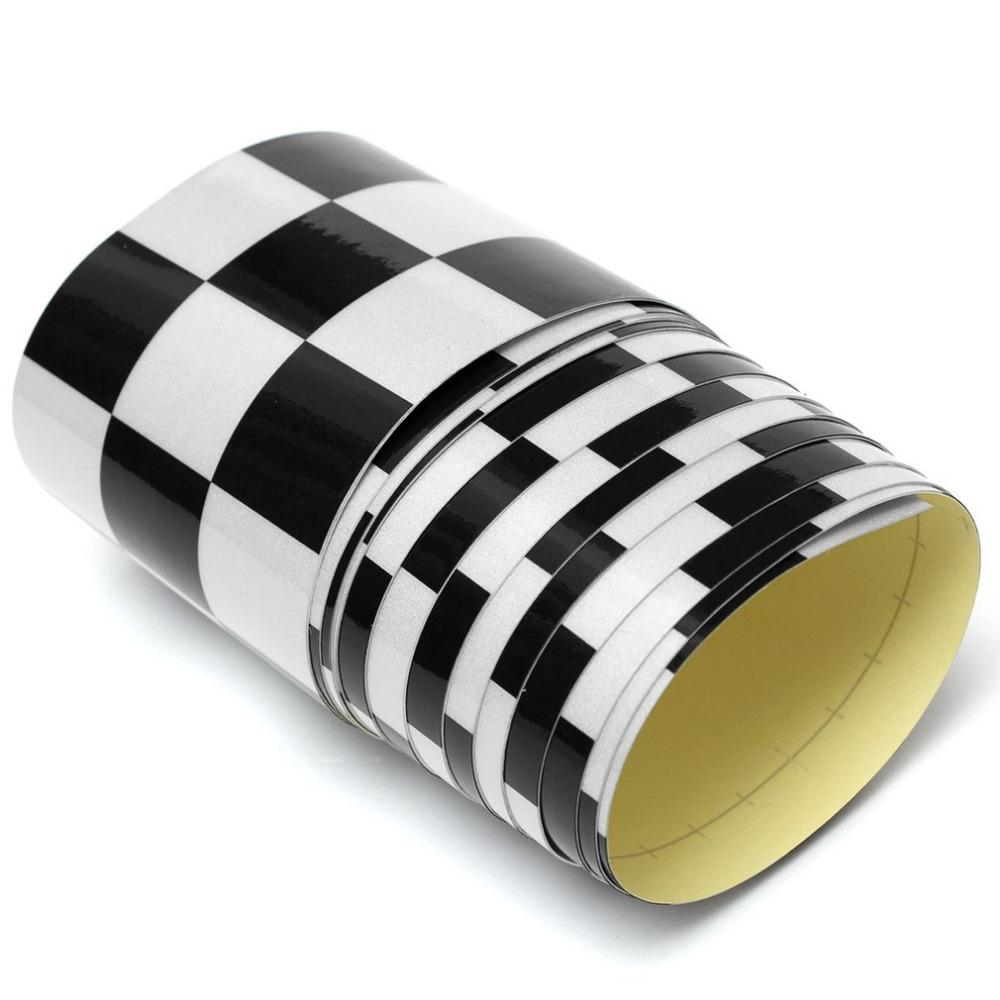 2019 2757 6cm vinyl decal tape blackwhite checkered vehicle sticker fashion vinyl wrap for car bike motorcycle truck car styling from sanjiaomeiflo