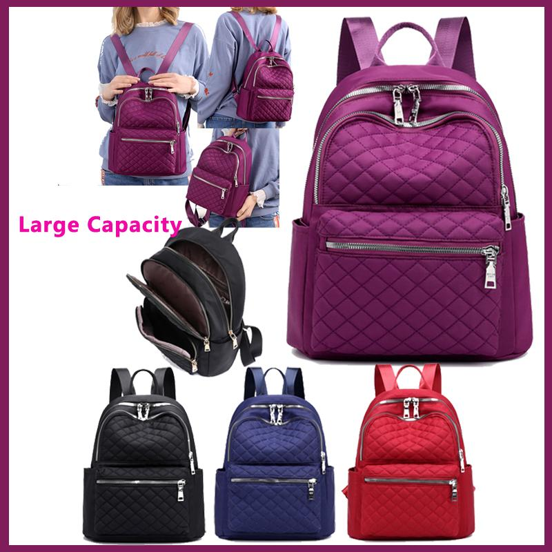 517f869bc9 Women Claissic Fashion Casual Wear-resistant Black Red Blue Purple Nylon  Water Resistant Storage Computer Bag School Backpack School Backpack  Backpack Bag ...