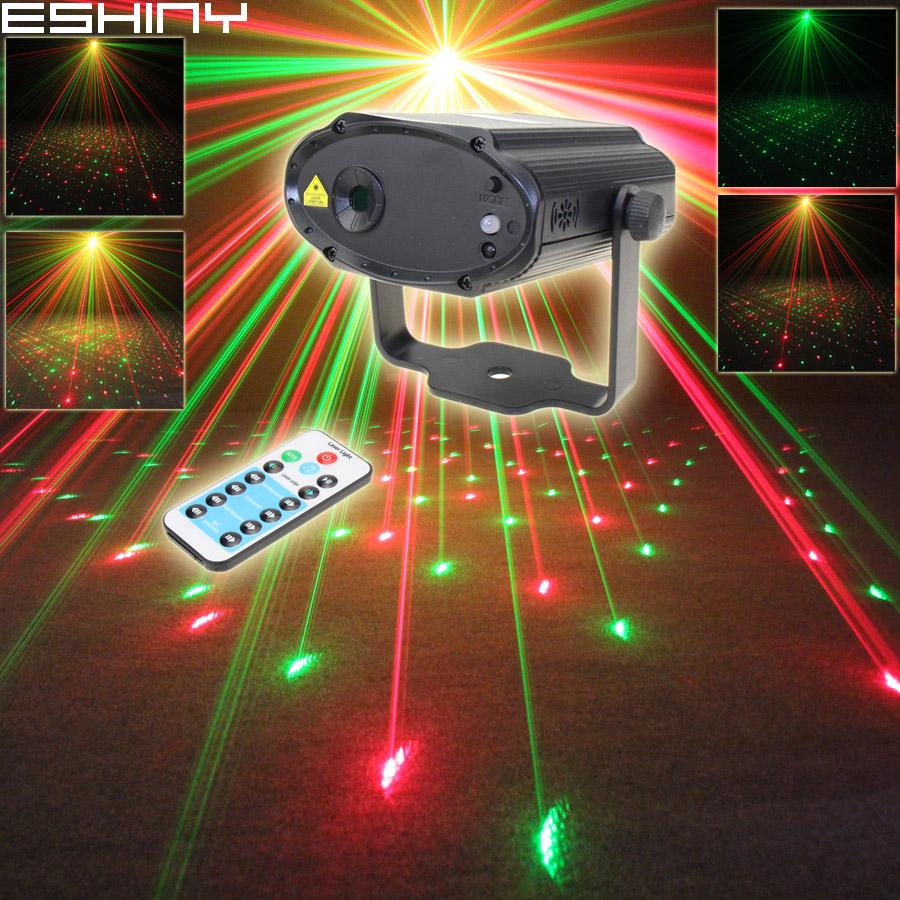 Proiettore laser Mini Remote stelle modello completa Luce DJ DJ Ambiente dance bar discoteca effetto Xmas Party Lights Stage Show B34