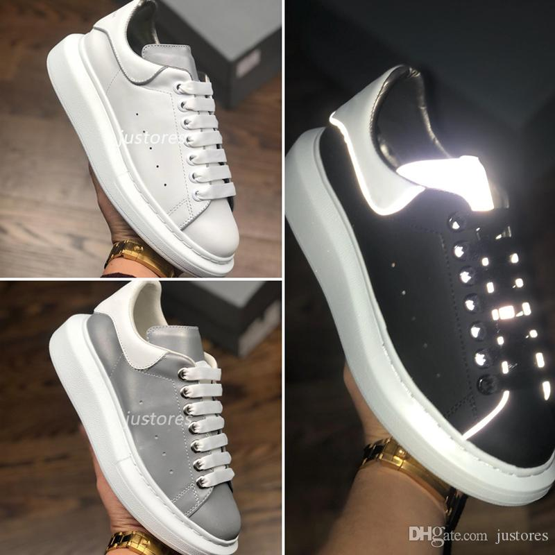 new styles c6ff6 2ac6c 2019 TOP Größe 35-46 Mann Frau Designer Schuh 3 Mt Reflektierende Weiß  Macqueen Übergroße Sohle Sneaker Italienische Luxus Schuh Unisex Casual  Schuhe