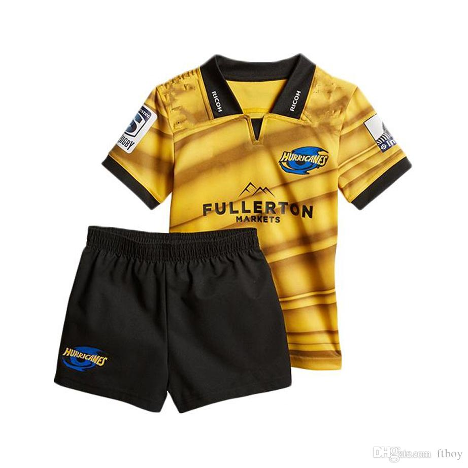ea89a8037 2019 2018 2019 Hurricanes Home Rugby Jerseys Kids NRL National Rugby League  Shirt Nrl Jersey New Zealand Club Hurricanes Child Kit Shirts From Ftboy,  ...