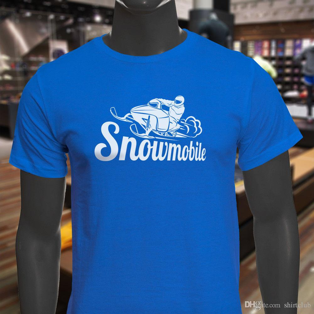 Snowmobile Racing Support Dropship Sport Adventure Travel Mens Blue T-Shirt T Shirt Men Male Designer Custom Short Sleeve Valentine's Big Si