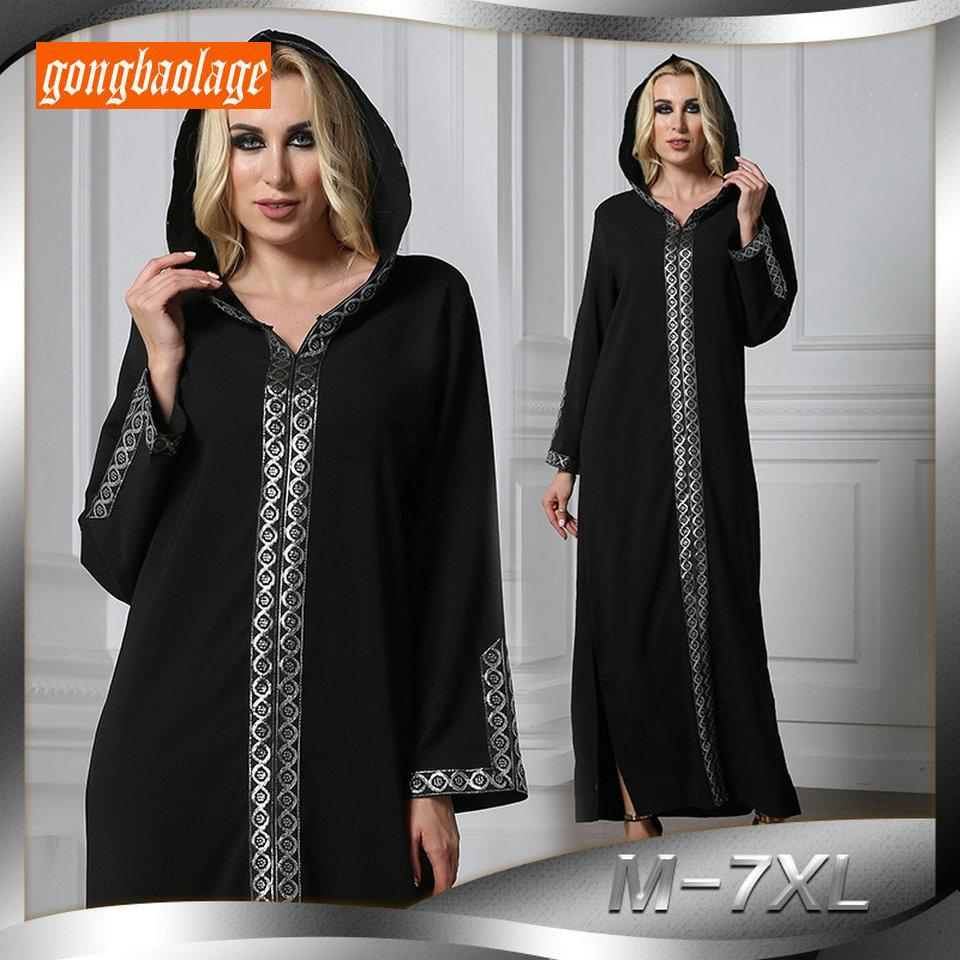 411e69ca6fc 2019 Fashion Muslim Lady Dress Abaya Dubai Arab Islamic Clothing For ...