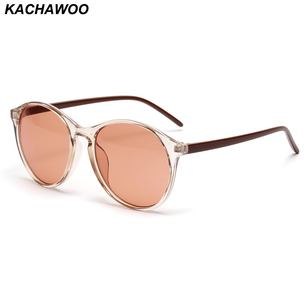bc1df318acb7 Kachawoo Fashion Retro Sunglasses Women 2019 Trend Accessories Round Sun  Glasses For Men Unisex Brown Dropshipping Circle Sunglasses Glass Frames  From ...