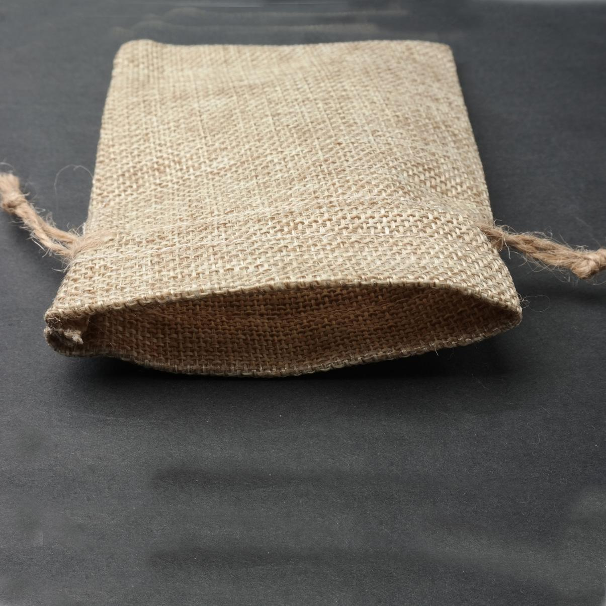 2018 Gift Bag Jute Hessian Packing Storage Linen Burlap Jewelry