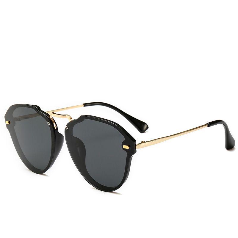 eb957f1295 2019 Fashion Pilot Sunglasses Luxury Women Brand Oval Retro Glasses ...