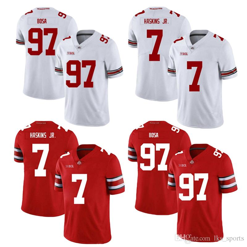 pretty nice dd1e3 1effb Ohio State Buckeyes NCAA jerseys 7 Dwayne Haskins Jr jersey 97 Nick Bosa  American College Football Wear High quality fabric