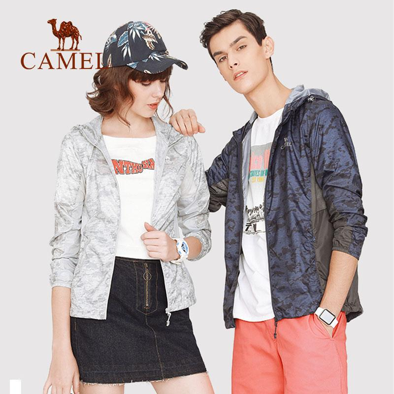 CAMEL Summer Sun Protective Coat Jacket Mujeres Hombres Ropa UV Impermeable Senderismo Camping Outdoor Windproof Lightweight 2019