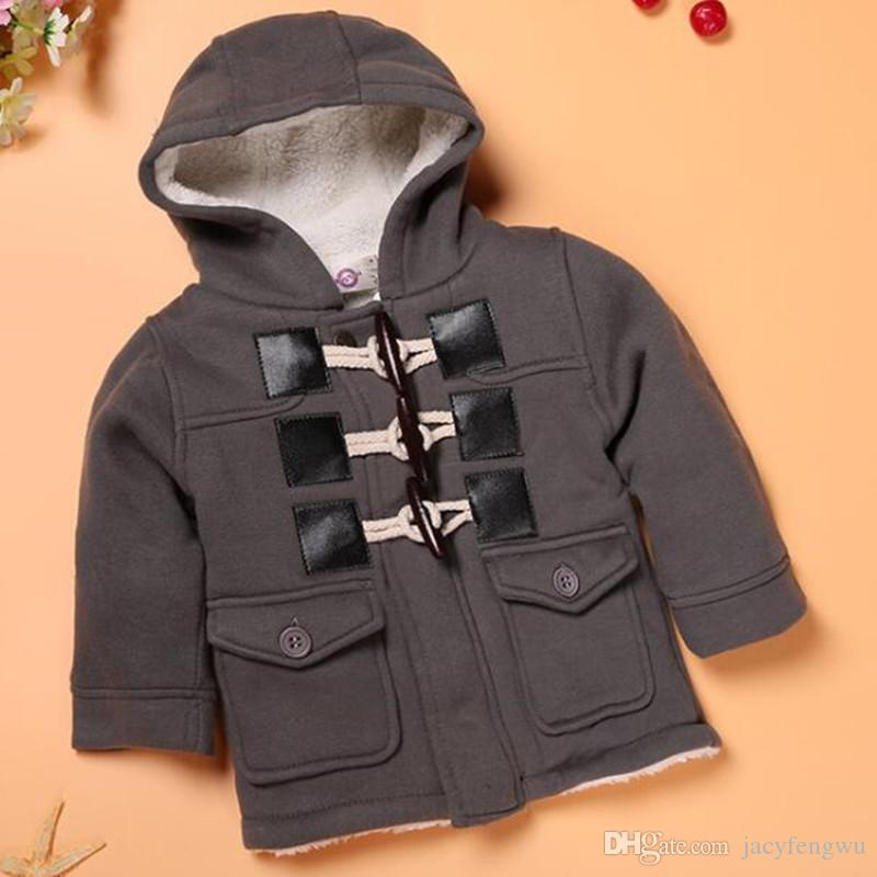efa77dd7c5e6f Boys Winter Coat Baby Hoodies Boys Jackets Kids Clothing Children Overcoat  Sweatshirts Cotton Padded Jacket Clothing Outwear Outfit D082 Black Coats  For ...