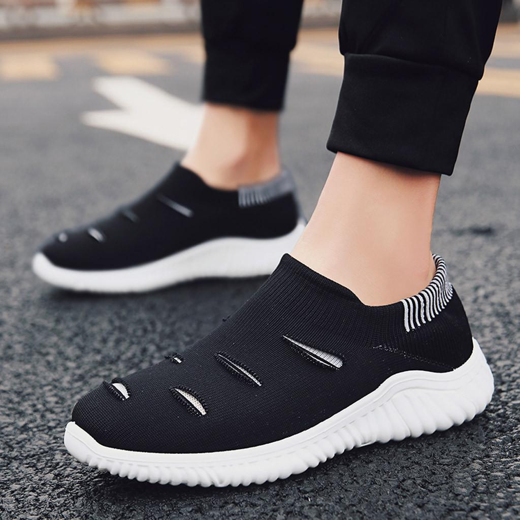 Men's Shoes Shoes Muqgew Hollow Out Solid Big Size Flats Sneakers Shoes New Arrival Casual Sets Of Feet Lightweight Outdoor Non-slip Sneaker Shoes