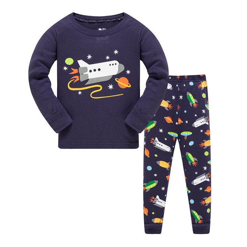 Next Christmas Pyjamas 2019.Kids Pajamas Sets 2019 Cotton Baby Boys Girls Clothes Toddler Girl Pijamas 2 Pcs Sleepwear Long Sleeve Cartoon Nightwear Boy 8y