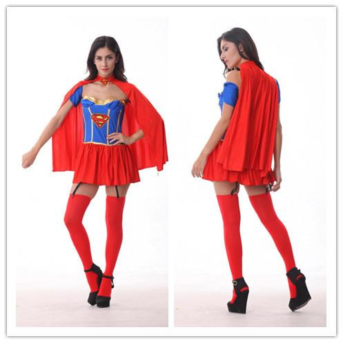 American Hero Wonder Woman Dress Stagewear Dancing NEW Fashion Stylish Cosplay Halloween Party Costumes Superman Costume