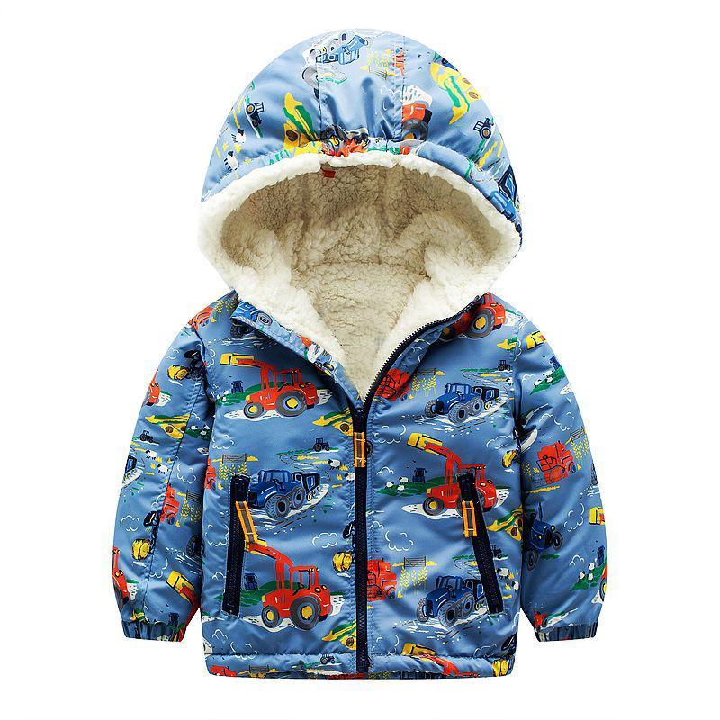 Baby Jungen Jacken 2019 Marke Kinder Winter Daunenjacken für Jungen Kleidung Mit Kapuze Wollen Muster Kinder Oberbekleidung Mädchen Parka Mantel
