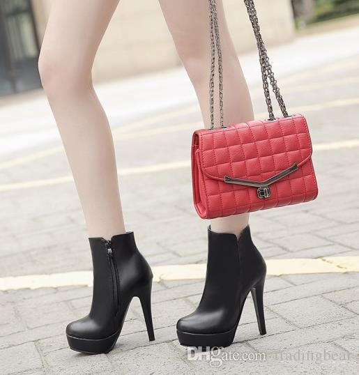 Small big size 33 34 to 40 41 42 43 fashion women winter black white high heel sexy ankle boots