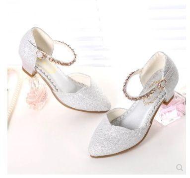 5c479b54b3 New Princess Girls Sandals Kids Shoes For Girls Dress Shoes Little High  Heel Glitter Summer Party Wedding Sandal Children Shoe Y19051403