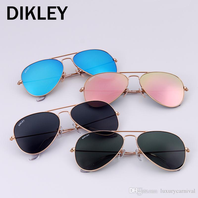 ecd9f05e57aa Top Quality Glass Lens Polit Luxury Sunglass Dikley 58mm UV380 ...