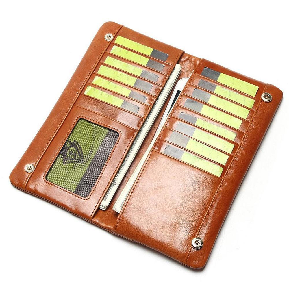 af7eb123789 양질 오일 왁스 진짜 가죽 남자 지갑 긴 디자이너 남성 클러치 브랜드 남자 지갑 지퍼 동전 지갑 전화 가방 제조사 keeping08,  $53.69 | DHgate.com.