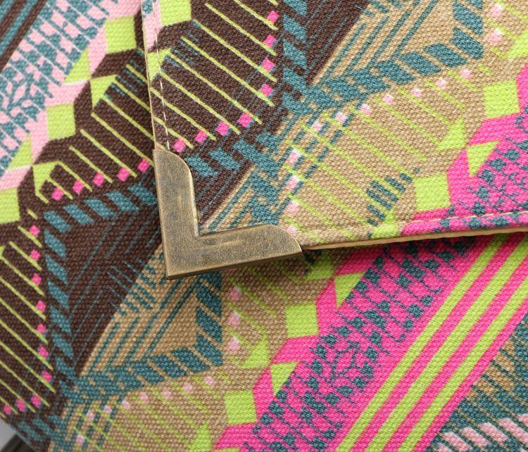 SUNNY SHOP National Boho Sacs Pour Femmes 2018 Enveloppe Pochette Avec Poignets Espagnol Bohême Soirée Sac Petite Femme Toile