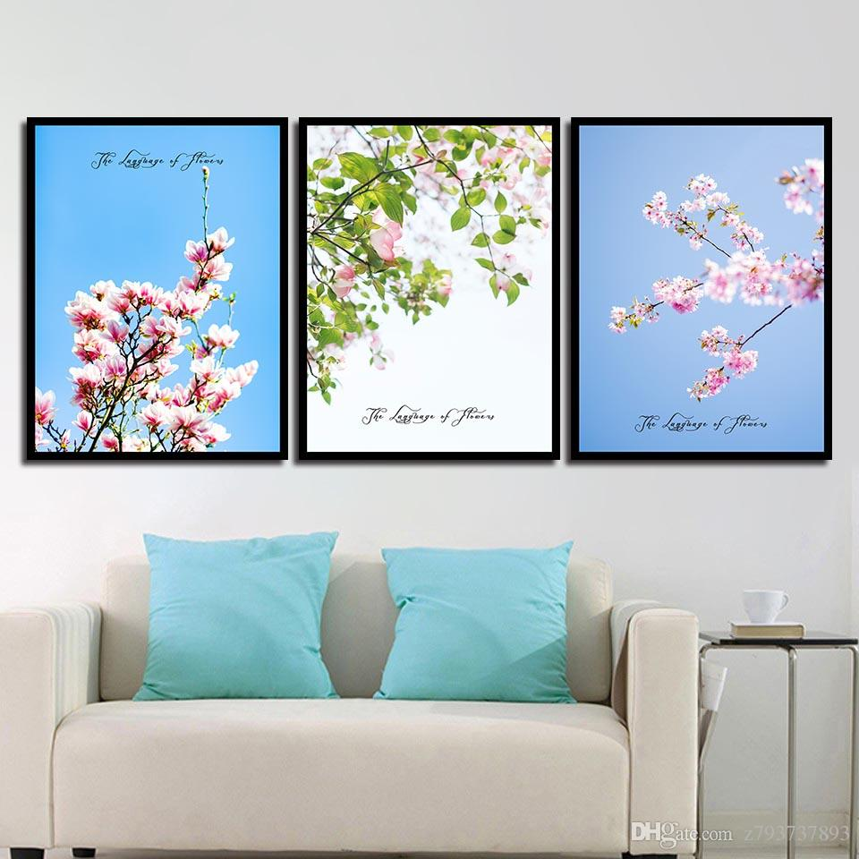 Quote HD Picture Wall Canvas Painting Abstract Beautiful Pink Cherry Blossom Simple Nordic Poster Prints Photo Pop Art Decor