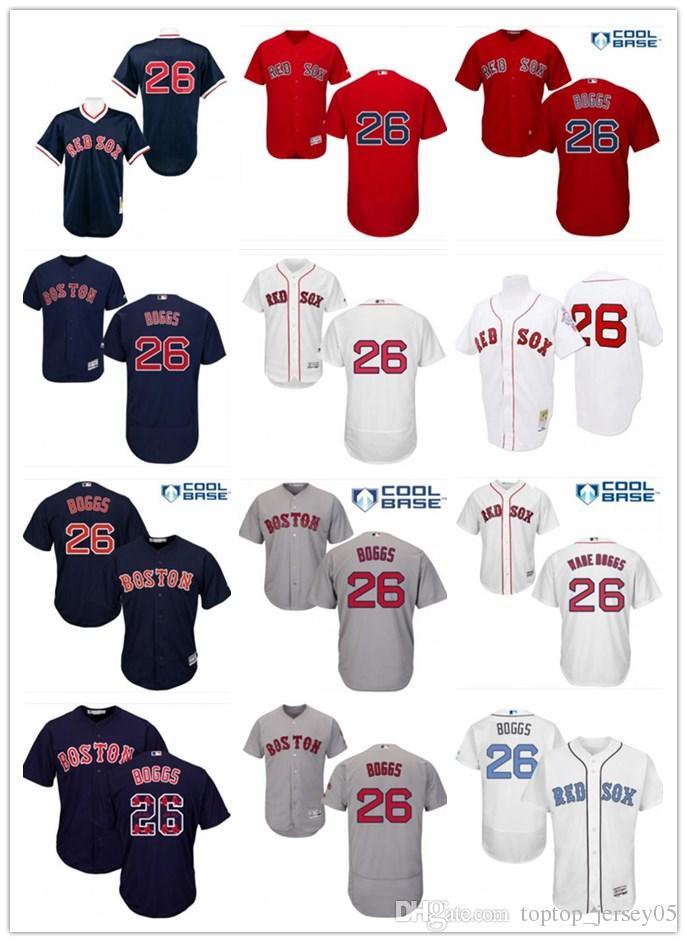 2f7727ed 2019 2018 Boston Red Sox Jerseys #26 Wade Boggs Jerseys  Men#WOMEN#YOUTH#Men'S Baseball Jersey Majestic Stitched Professional  Sportswear From Toptop_jersey05 ...