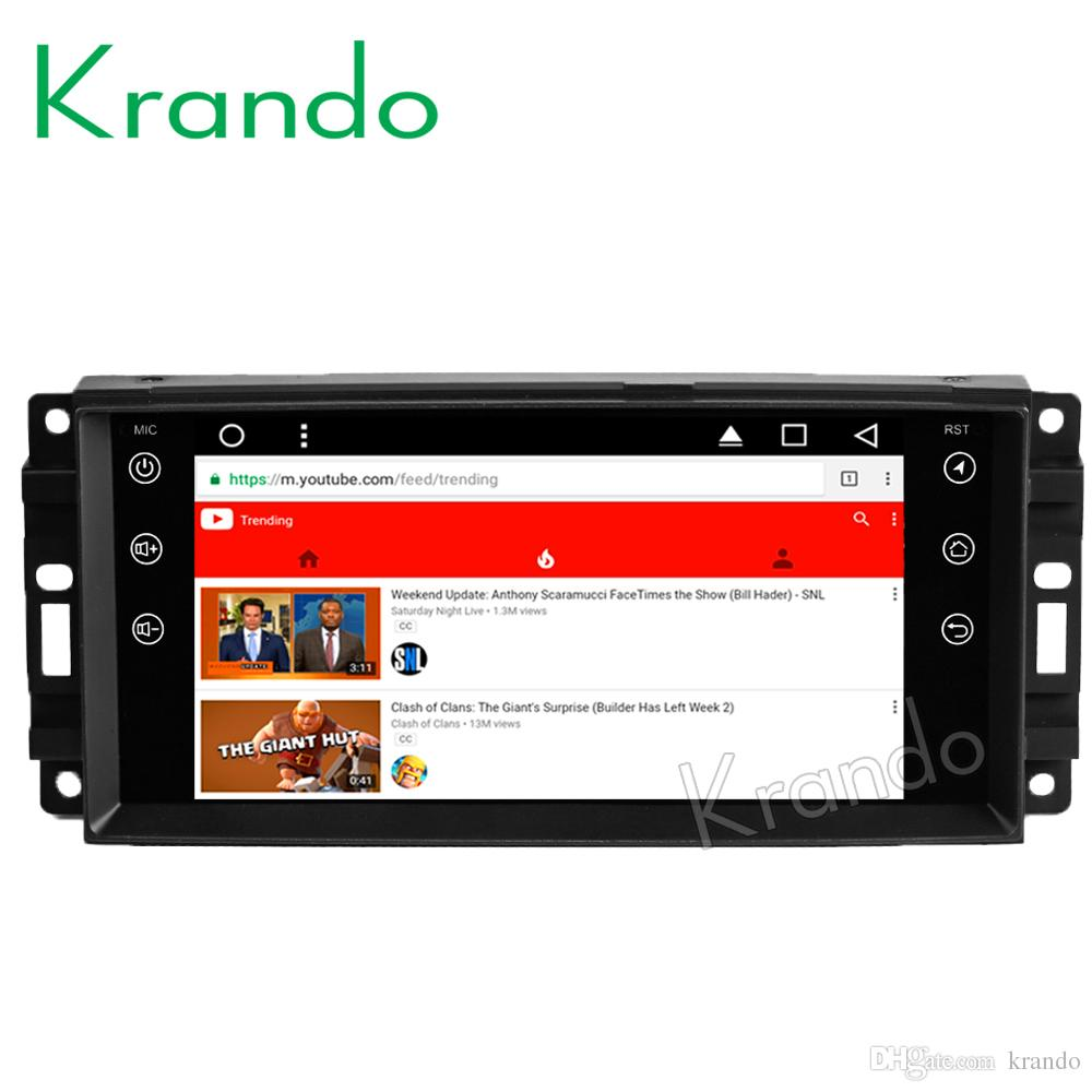 Krando Android 8 1 7 IPS Big Screen Full touch car dvd navigation system  for Jeep Compass Wrangler audio player vedio gps BT wifi