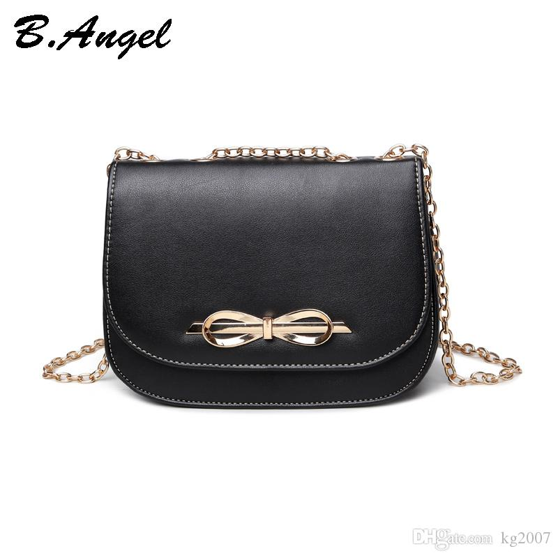 d72cba3eb254 Women S Retro Solid Color Metal Bow Decorative Ornaments Chain Trend  Shoulder Messenger Wild Mini Korean Version Saddle Bag Girl School Bags  Crossbody Name ...
