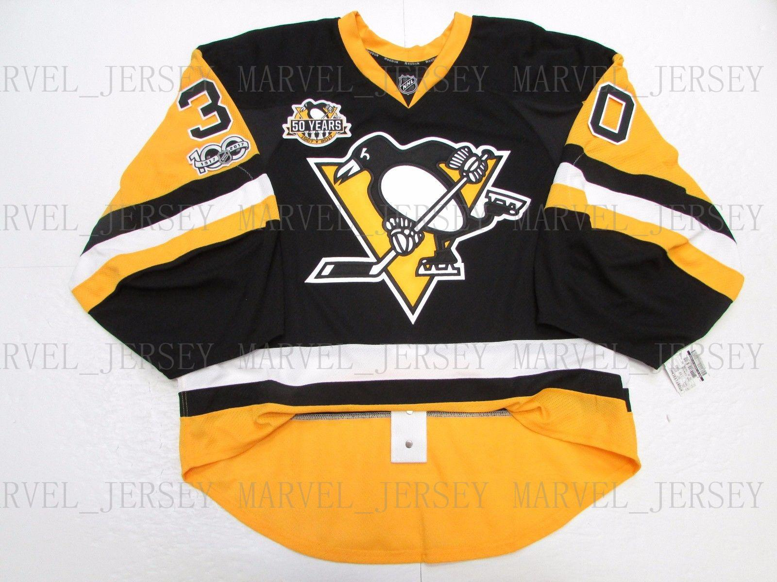 e95c37e60 2019 Cheap Custom MURRAY PITTSBURGH PENGUINS 100 ANNIVERSARY JERSEY GOALIE  CUT 58 Stitch Add Any Number Any Name Mens Hockey Jersey From  Marvel jersey