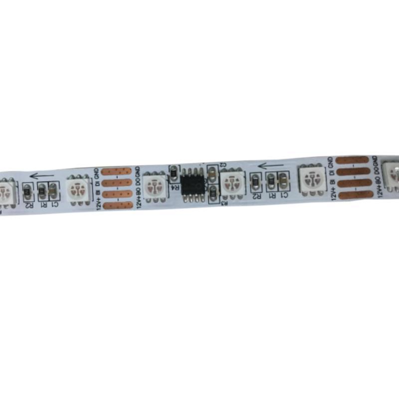 50M/lot Magic addressable rgb led strip 12V 60leds/M smart led pixel strip  20IC/M programmable rgb led strip digital 14 4W