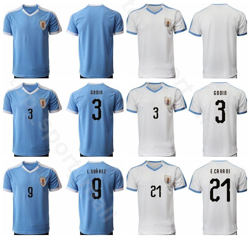 e80b5f26094 2019 2019 Uruguay Soccer Jersey Men 3 GODIN 11 STUANI 9 SUAREZ 21 CAVANI 10  FORLAN Home Blue Away White Football Shirt Kits Uniform From  Top sport mall
