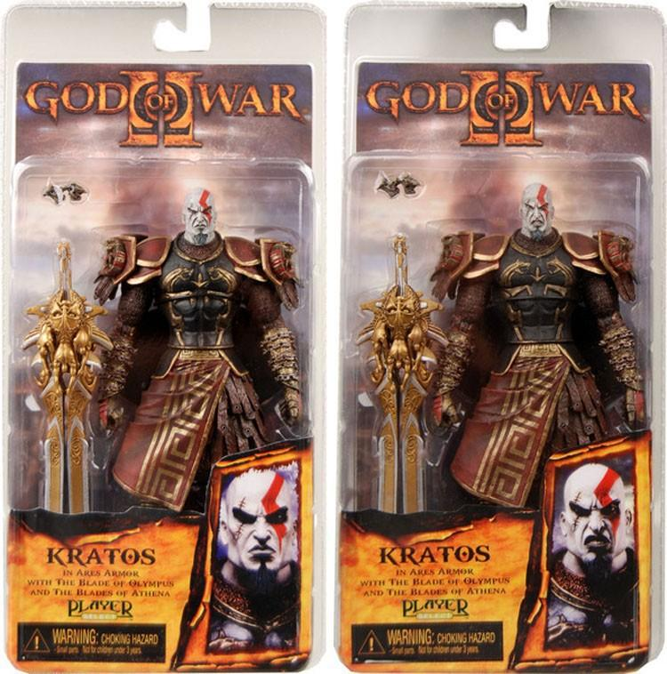 "god of war 7.5"" NECA God War Kratos in Golden Fleece Armor with Medusa Head PVC Action Figure Collection Model Toy Free"