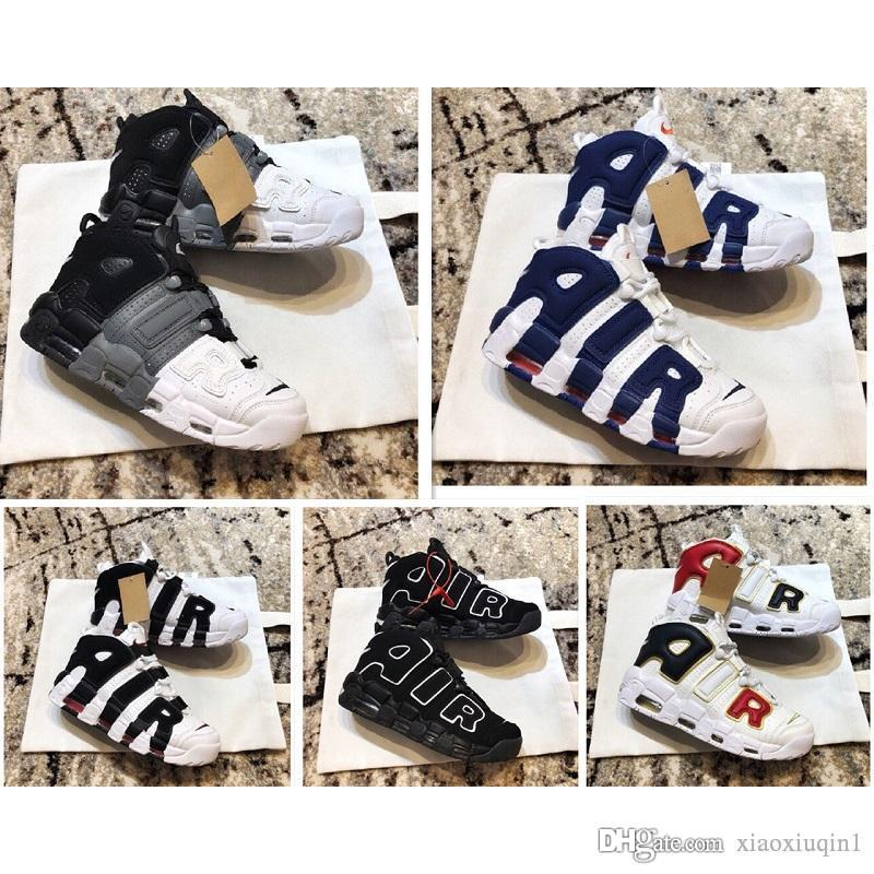 reputable site c0024 6f338 Acquista Air Più Scarpe Da Basket Uomo Uptempo In Vendita Grande Scottie  Pippen 96 Prm 3M Knicks Scarpe Da Bambino Tri Color Bambini Donna Con  Scatola ...