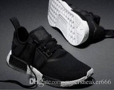promo code df414 9d3c1 2019 NMD R1 R2 Primeknit Runner Running Shoes Men Women Glitch Pack Triple  Black White Oreo PK Designer Sport Sneakers 36-45