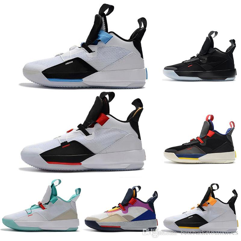 0352634f085b69 2019 XXXIII 33 Mens Basketball Shoes For Jumpman 33s Future Of Flight Tech  Pack Black Dark Smoke Grey Sail Sport Sneaker Size 7 12 Shoes Jordans  Sneakers On ...