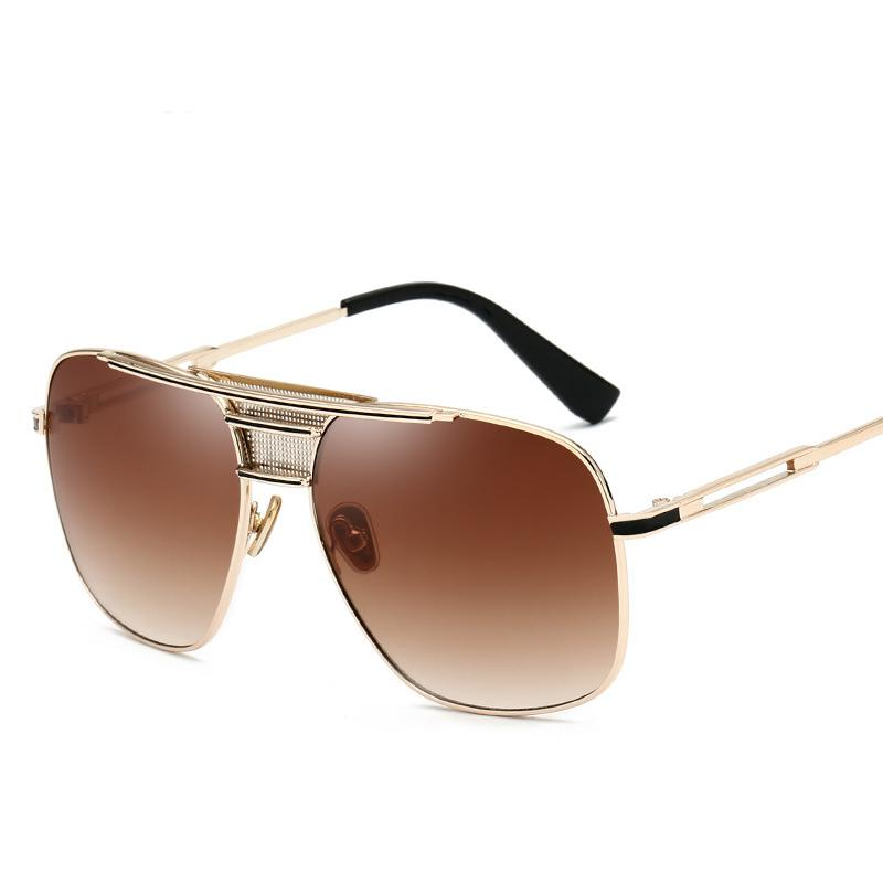 80dd76563525c Compre 2019 Óculos De Sol Dos Homens Óculos De Sol De Condução Masculino  Óculos De Sol Para Homens Retro Barato Designer De Marca De Luxo Des  Lunettes De ...