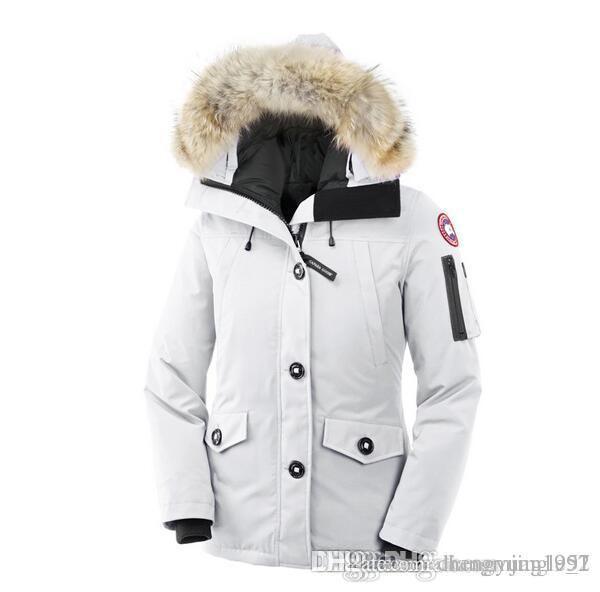 Parker Aire Europeo Cálido Sólido 90 Al Abrigo Compre Color Frío Canadiense Libre Marca Ganso De Mujer Deportes Chaqueta Tamaño Rojo Negro Mujeres PtFSU