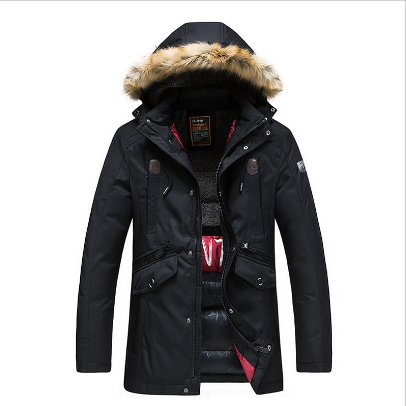 High Quality Men Hooded Winter Jackets Outwear Casual Warm Long Coats New Fashion Winter jacket Men Long Down Jackets