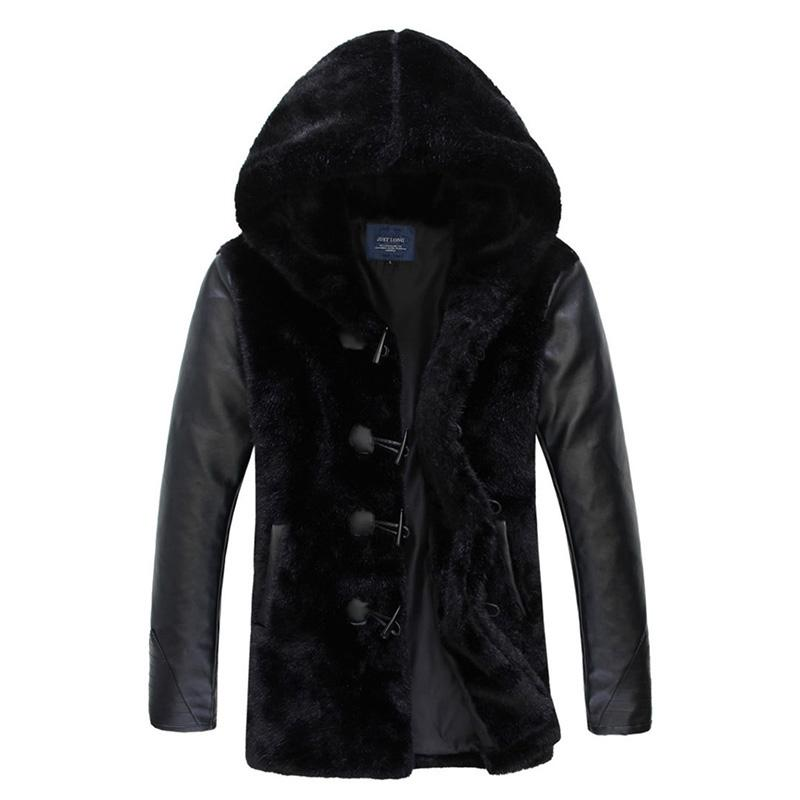 52d1fc5883e Winter Man High Quality Fur Coat Leather Jackets Fur Faux Coats ...