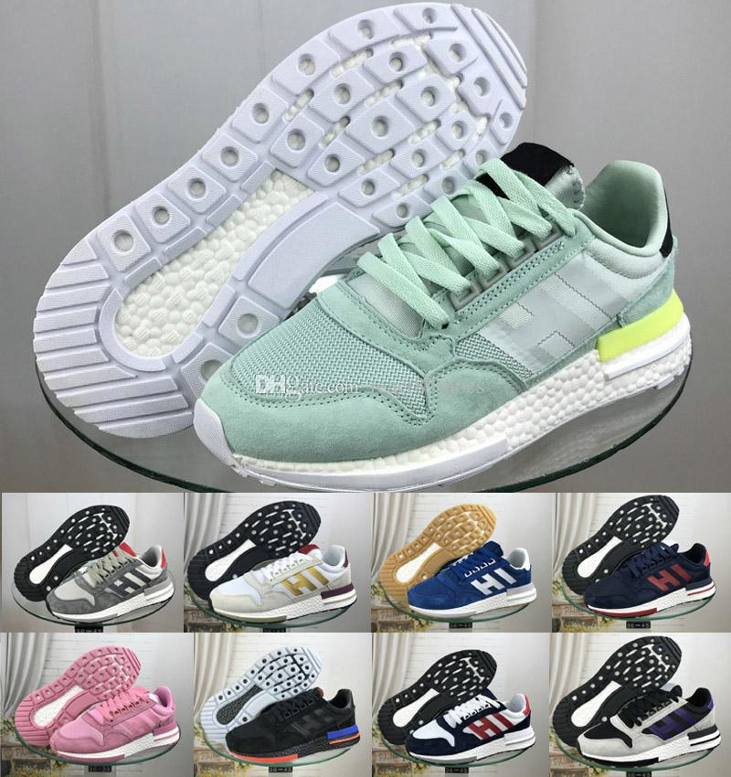 promo code 2a412 97c3d ZX 500 Designer Sports shoes RM Goku Men Sneakers ZX500 RM The Dragon Ball  Grey Jogging Shoes soft-soled Fashion Running shoes US 5-11