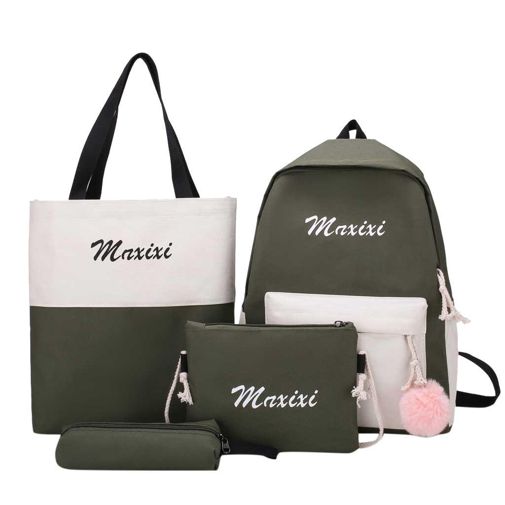 7eaa68f1e75a 14pcs/set Women Backpack Letter Printing Patchwork Canvas School Bags For  Teenage Girls Women s Backpacks School Bagpack #10