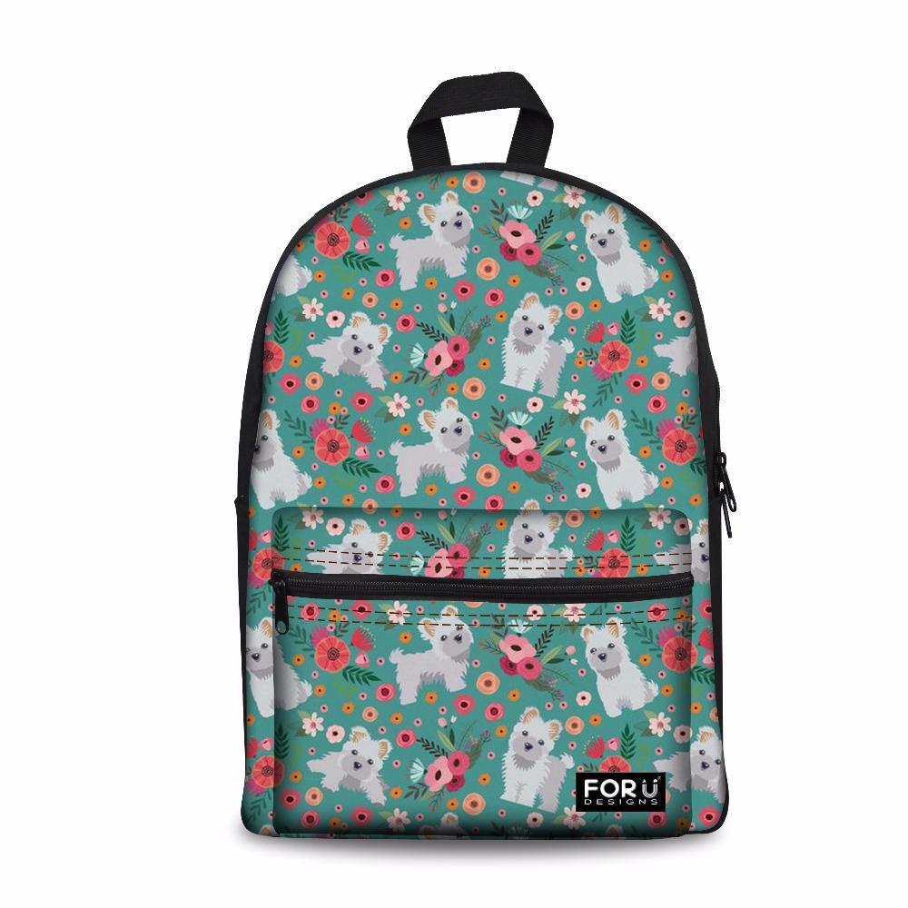 uk availability 39271 18e9d Customized Cute Maltese Printing Backpack Female Fashion Shoulder Backpacks  Teen Girls School Bagpack For Kids Kawaii Rucksack Rucksack Backpack Boys  ...