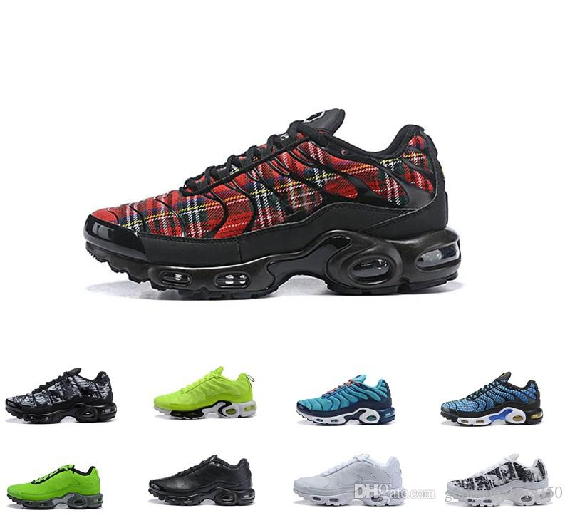2019 Top Men Greedy Nike Air Max airmax Plus Tn Ultra SE Negro Blanco Azul Rosa Zapatillas Hombre Zapatillas de running TN zapatos al aire libre