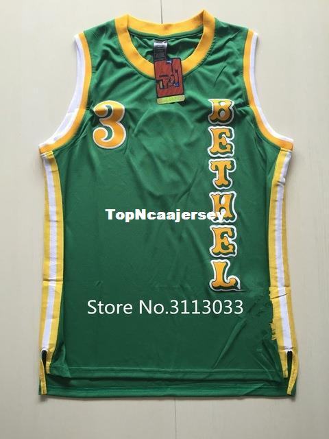 2a6df331b54 2019 #3 Allen Iverson Bethel High School Green Stitched Basketball Jersey  XS XXL Vest Jerseys NCAA From Topncaajersey, $17.49 | DHgate.Com