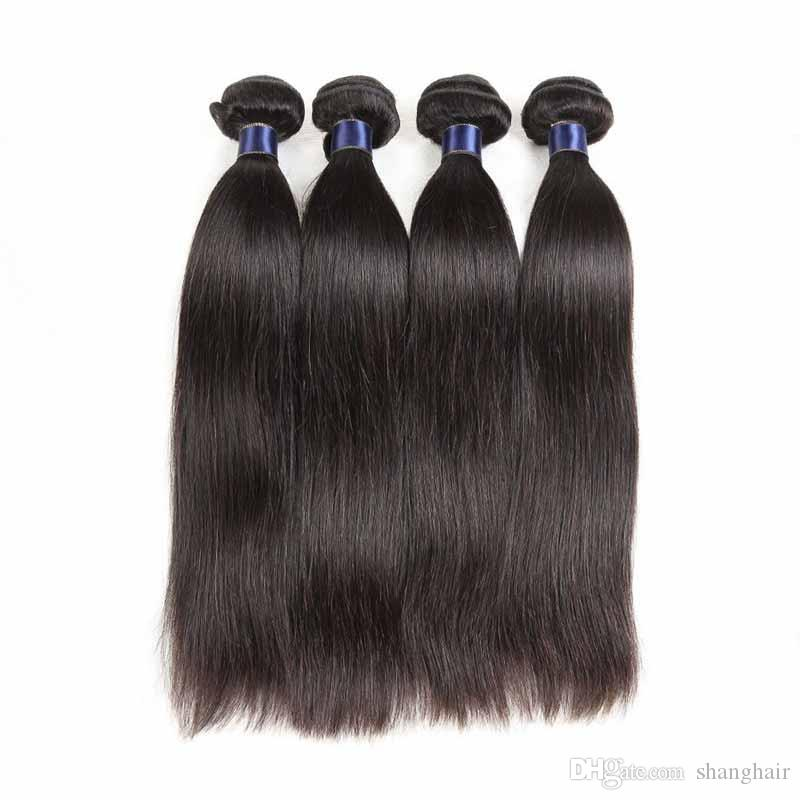 Brazilian Virgin Human Hair Weaves Straight 4pcs/lot Malaysian Remy Human Hair Extension 4 Bundles Lot Cheap Hair Wefts Straight